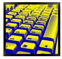 Abstract keyboard, Framed Print