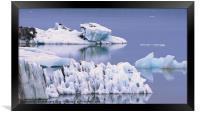 Glacial Textures, Framed Print