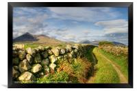 Pathway to the Mourne Mountains, Framed Print