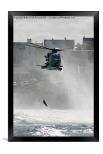 Sea rescue at Portrush, Framed Print