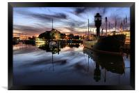 Hull Marina at Dusk, Framed Print