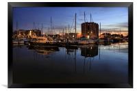 harbour nights, Framed Print