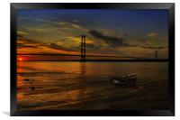 Humber Bridge Sunset 2012, Framed Print