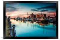 Marina Morning 2014, Framed Print