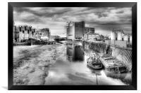 River Hull Dusk  2013, Framed Print