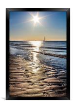 Spurn Point Sunrise, Framed Print