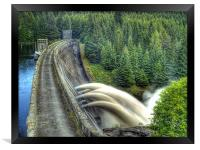 Summer Rain On Laggan Dam., Framed Print