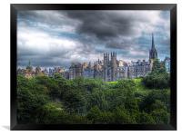 Edinburgh Skyline, Framed Print