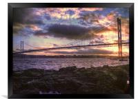Forth Road Bridge Scotland, Framed Print