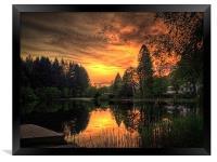 Golden Light On Loch Ard, Framed Print