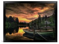 Spring Sunset Loch Ard, Framed Print