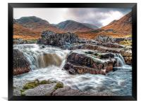 Waterfall On The River Etive, Framed Print
