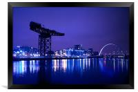 The River Clyde At Night., Framed Print