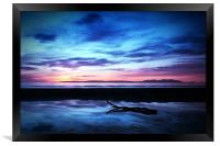 Sunset Over Troon Beach, Framed Print