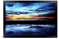 Troon Beach, Reflections, Framed Print