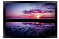 Troon Beach, Ripples, Framed Print