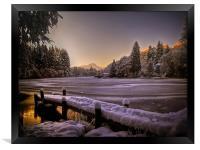 Loch Ard, Winter Sunset, Framed Print