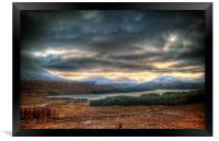 Winters Sun Over Loch Tulla, Framed Print