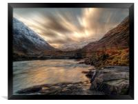 Dusk On The River Etive., Framed Print