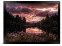 Loch Ard, Summer Glow, Framed Print