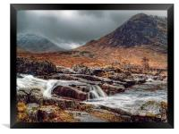 The River Etive Scotland, Framed Print