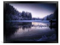 Loch Ard, Frozen In Time., Framed Print