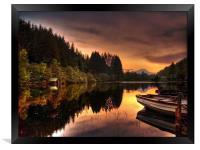 Loch Ard Reflections, Framed Print