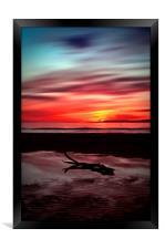 Sunset Over Troon Beach, Framed Print