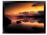 Loch Ba Sunrise, Framed Print
