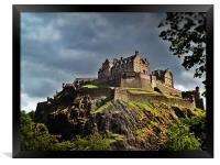 Edinburgh Castle, Scotland., Framed Print