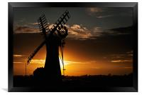 Sunsets behind Thurne Mill, Framed Print
