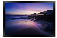 Blue dawn over Southwold Pier, Framed Print