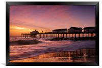 Reflection on a beach, Framed Print