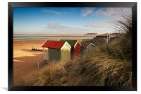 Beach Hut view, Framed Print