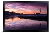River Bure at Coltishall, Framed Print