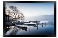 Boats on the Eels Foot at Ormesby Little Broad, Framed Print