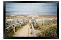 Slope to Holkham Beach, Framed Print