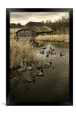 Thatched Boat House, Framed Print