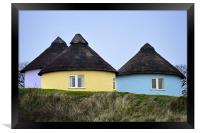 Thatched cottages, Framed Print