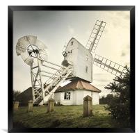 Thorpeness windmill, Suffolk, Framed Print