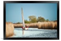 Yachting on the River Thurne, Framed Print