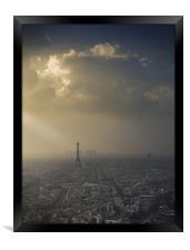 Eiffel Tower skyscape, Framed Print
