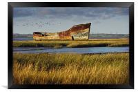 Rotting Hulk on the Medway, Framed Print