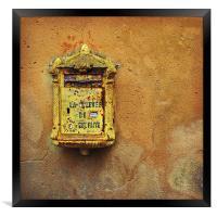 French post box, Framed Print