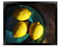 Lemons, Framed Print