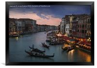 View from Rialto Bridge, Venice, Framed Print