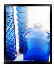 Blue Glass, Framed Print