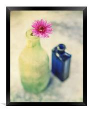 Flower and Old Bottles, Framed Print