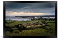 Wrecks on the River Medway, Framed Print