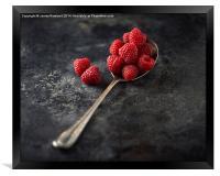 A Spoonful of Raspberries, Framed Print